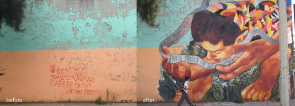 Reinterpretation of a message on the wall_explanation_mammut project_Mexico DF_2014